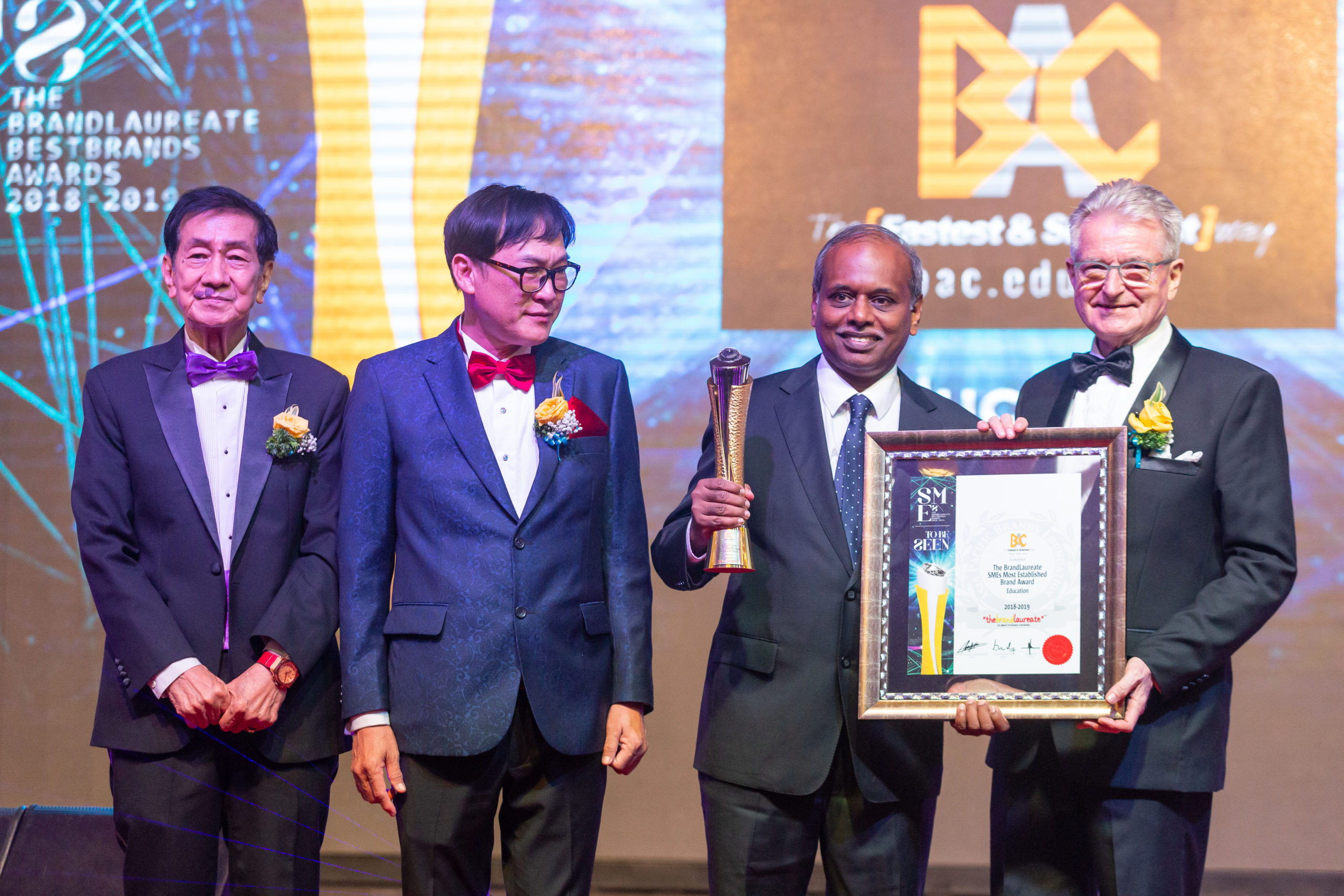 BAC bags The Brand Laureate Best Brand in Education Award 2018-2019